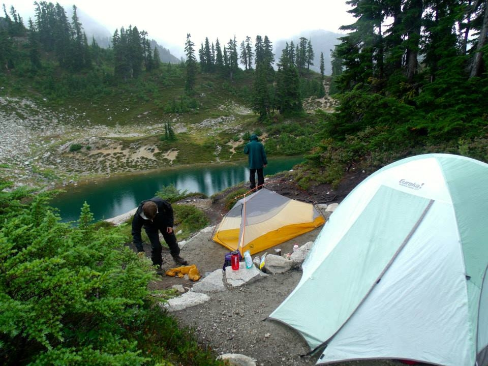 Camping at Egg Lake